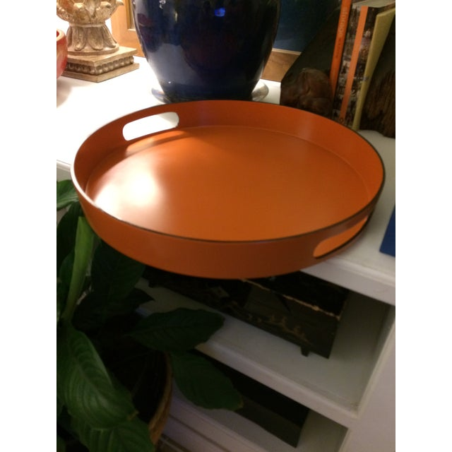 Hermes Style Orange Lacquer Serving Tray - Image 8 of 10