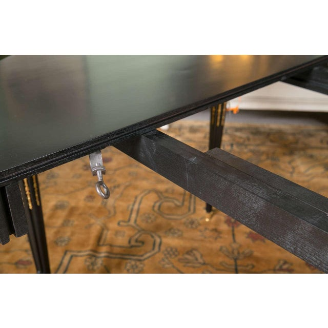 Maison Jansen Ebonized Dining Table W. Letter of Authentication. For Sale - Image 5 of 10