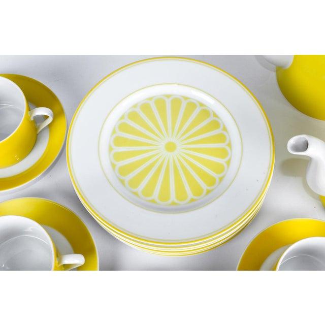 Mid 20th Century Mid Century Lemon Porcelain Luncheon Service - Set of 30 For Sale - Image 5 of 7