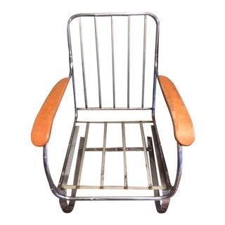 Modern Industrial Kem Weber Springer Chrome Chair Machine Age Side Chair For Sale