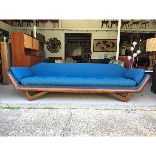 "101"" Adrian Pearsall Walnut Gondola Sofa Craft Associates For Sale - Image 13 of 13"