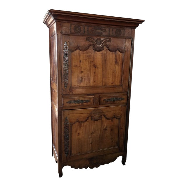 Antique 18th Century Fruitwood Bonnetiere - Image 1 of 8