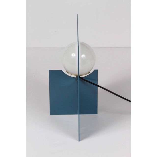 Paul Marra Steel Intersection Table Lamp For Sale In Los Angeles - Image 6 of 6