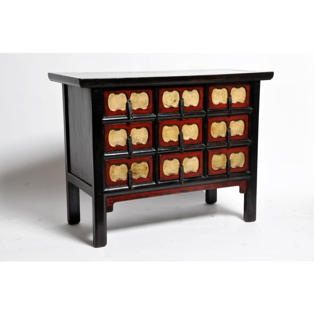 Asian Chinese Side Chest with Nine Drawers For Sale - Image 3 of 13