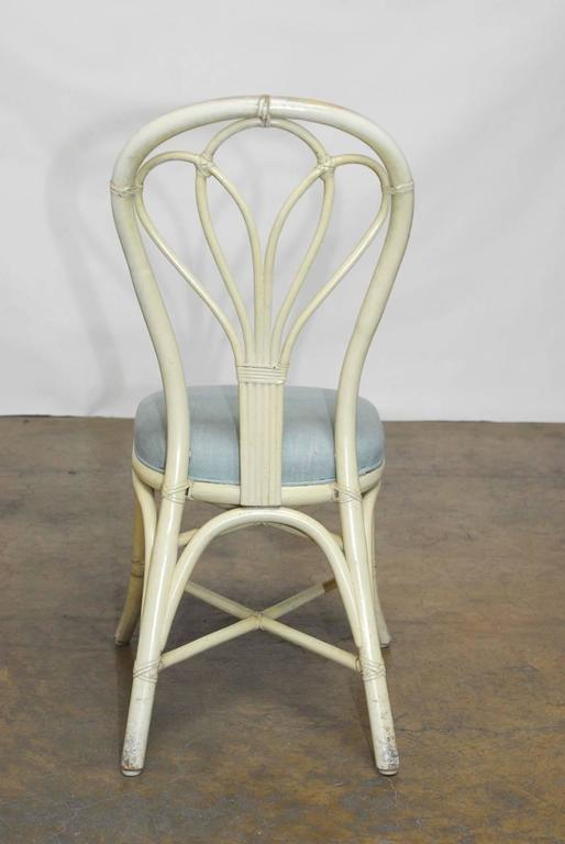 McGuire Lacquered Rattan Bistro Chairs  Set Of 4 For Sale   Image 5 Of 8
