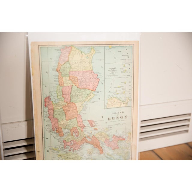 """:: From Cram's Unrivaled Atlas of the World 1907 Edition, a map of Luzon that measures 11.5"""" x 14.5"""". Page Numbers of..."""
