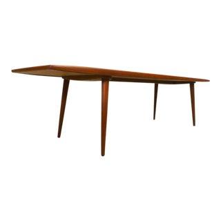 Danish Modern Kt of Denmark Long Winged Teak Surfboard Coffee Table For Sale