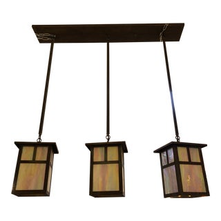 Arroyo Craftsmen Huntington Three Light Island Fixture For Sale