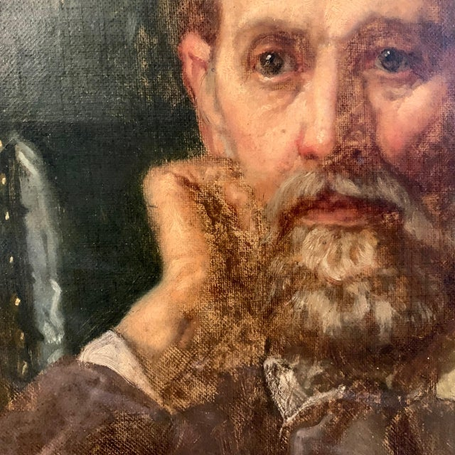 Holger Roed (1846-1874) Large Portrait of His Father, Denmark For Sale In New York - Image 6 of 11