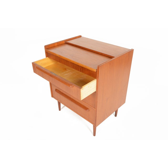 Danish Modern Teak Vanity Dresser - Image 7 of 10