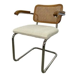 1970s Vintage Italian Marcel Breuer Cesca Style Armchair For Sale