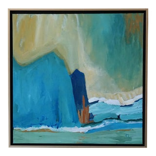 "Laurie MacMillan ""New Wave"" Abstract Seascape Painting For Sale"