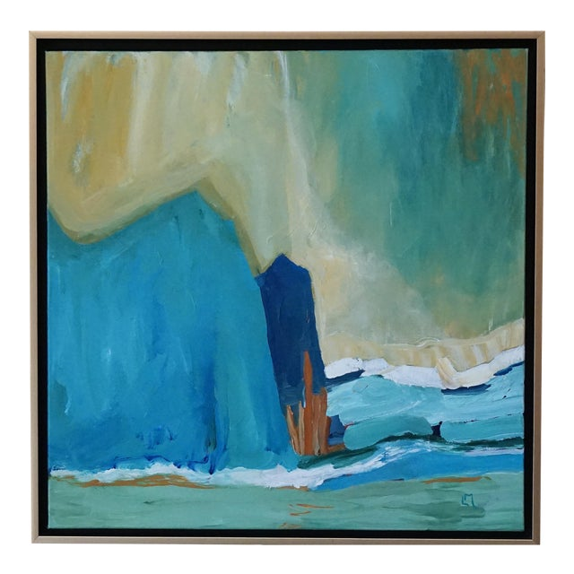 """Laurie MacMillan """"New Wave"""" Abstract Seascape Painting For Sale"""
