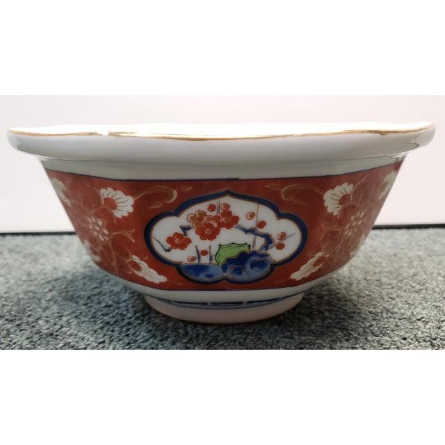 1970s Vintage 1970s Japanese Takahashi Imari Style Porcelain Octagonal Bowl For Sale - Image 5 of 8