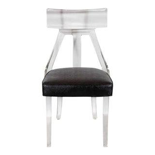 Luxe Mid-Century Modernist Klismos Occasional Chair