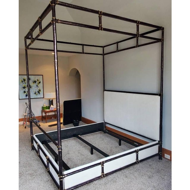 Sale includes one complete queen canopy bed as pictured. The grand Bank Street Canopy Bed is certainly impressive....