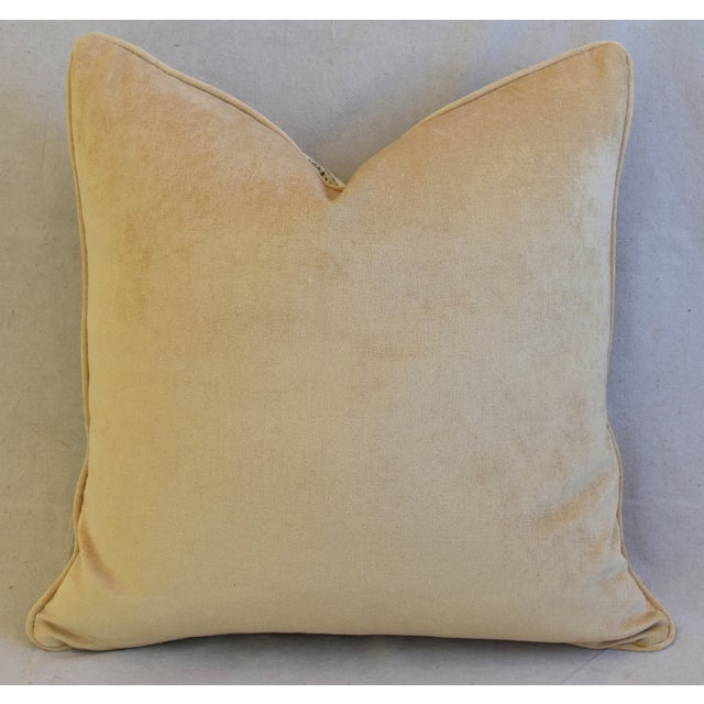 """Feather Scalamandre Cheetah & Velvet Feather/Down Pillow 20"""" Square For Sale - Image 7 of 10"""