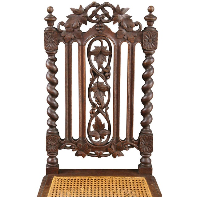Antique Renaissance-Style Hunt Chairs - Set of 6 - Image 4 of 8