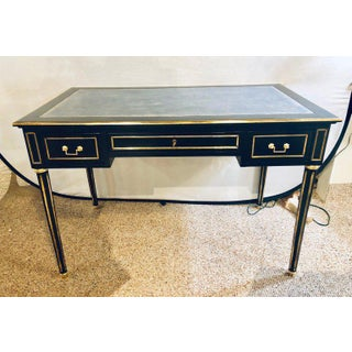 Ebony Jansen Style Hollywood Regency Bronze Mounted Writing Table or Desk Preview
