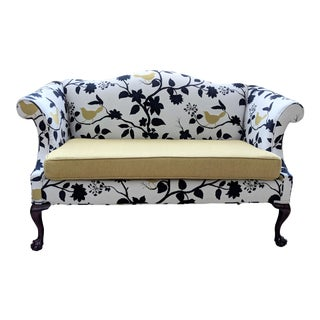 Antique Queen Anne Sofa With Ball and Claw Feet - Restored For Sale