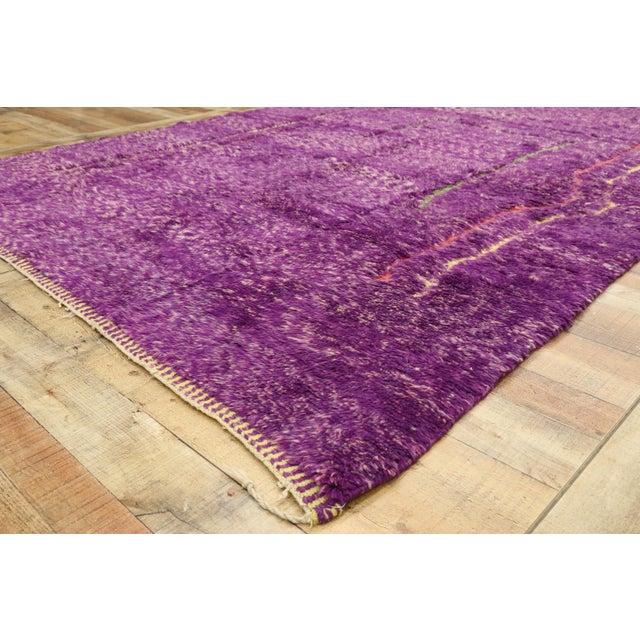 Purple Berber Contemporary Moroccan Rug - 06'10 X 10'00 For Sale In Dallas - Image 6 of 10