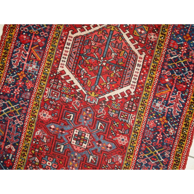 1920s Handmade Antique Persian Karajeh Runner - 3.5' X 10.8' - Image 5 of 10