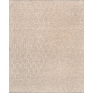 Transitional Hand-Woven Silk & Wool Rug - 5' X 8' For Sale