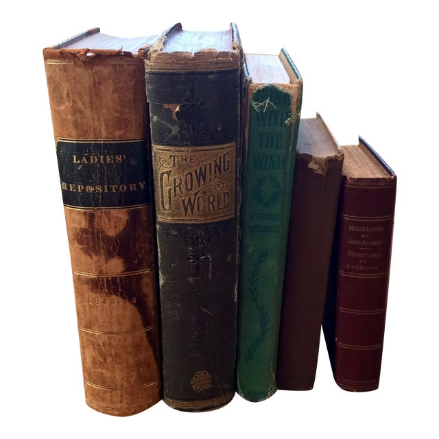 Antique Distressed Books - Set of 5 - Image 1 of 11