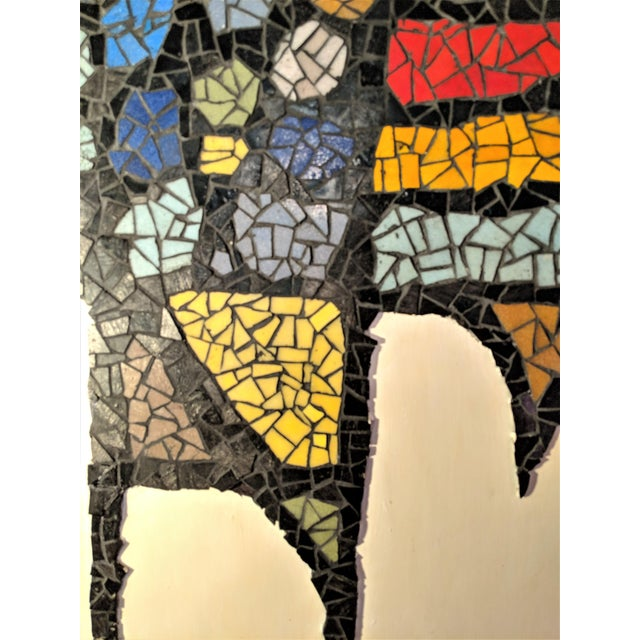 Wood Large Mosaic Rooster Wall Art For Sale - Image 7 of 11