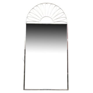 Italian Nickel Silver Mirror For Sale