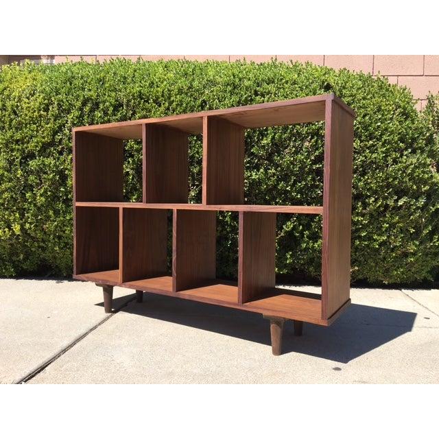 Mid-Century Syle Walnut Bookcase - Image 4 of 4