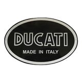 Image of Vintage Enamel Valentino Rossi Ducati Motorcycle Advertising Sign, Italy For Sale