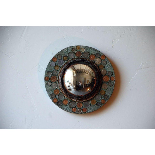 Modern Small Decorative Convex Mirror in the Style of Line Vautrin For Sale - Image 3 of 8