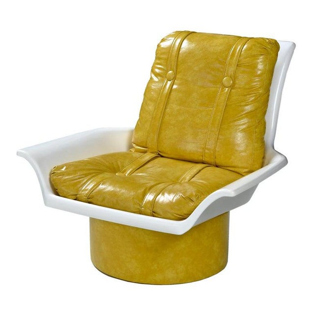 Futorian Decorian Molded Plastic Lemon Candy Shell Italian Modern Lounge Chairs For Sale - Image 4 of 13