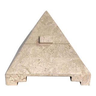 1980s Maitland Smith Tessellated Stone Pyramidal Box