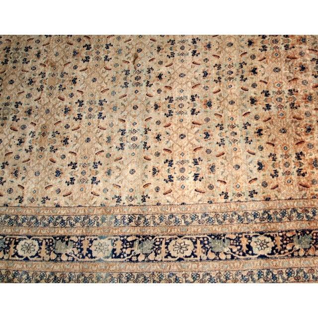 Textile 1880s Handmade Antique Persian Tabriz Hajalili Rug 4.2' X 6.5' For Sale - Image 7 of 13