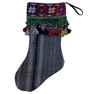 Antique Camel Sack & Tassel Christmas Stocking For Sale