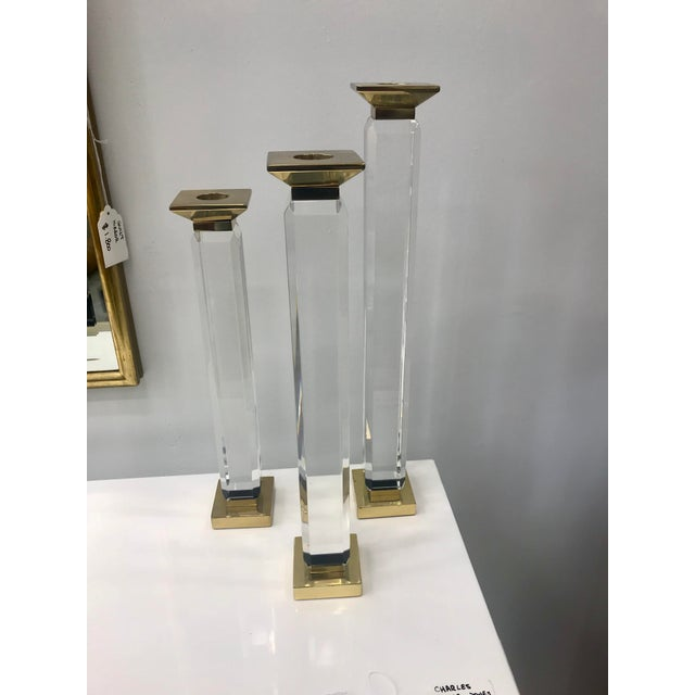 Gold Charles Hollis Jones Candle Holders - Set of 3 For Sale - Image 8 of 8