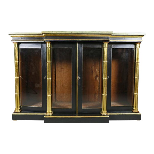 Regency Ebonized and Giltwood Credenza For Sale