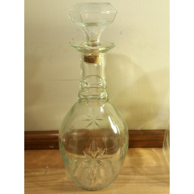 Vintage Glass Whiskey Decanters - Set of 3 For Sale - Image 5 of 6