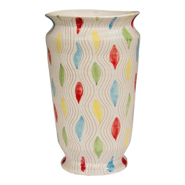 Vintage Large 1960's Raymor Italian Pottery Vase For Sale