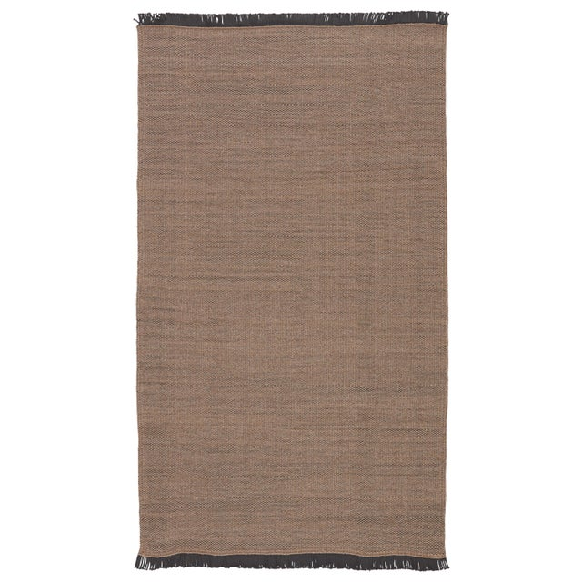 Jaipur Living Savvy Indoor Outdoor Solid Tan Black Area Rug 5'X8' For Sale In Atlanta - Image 6 of 6