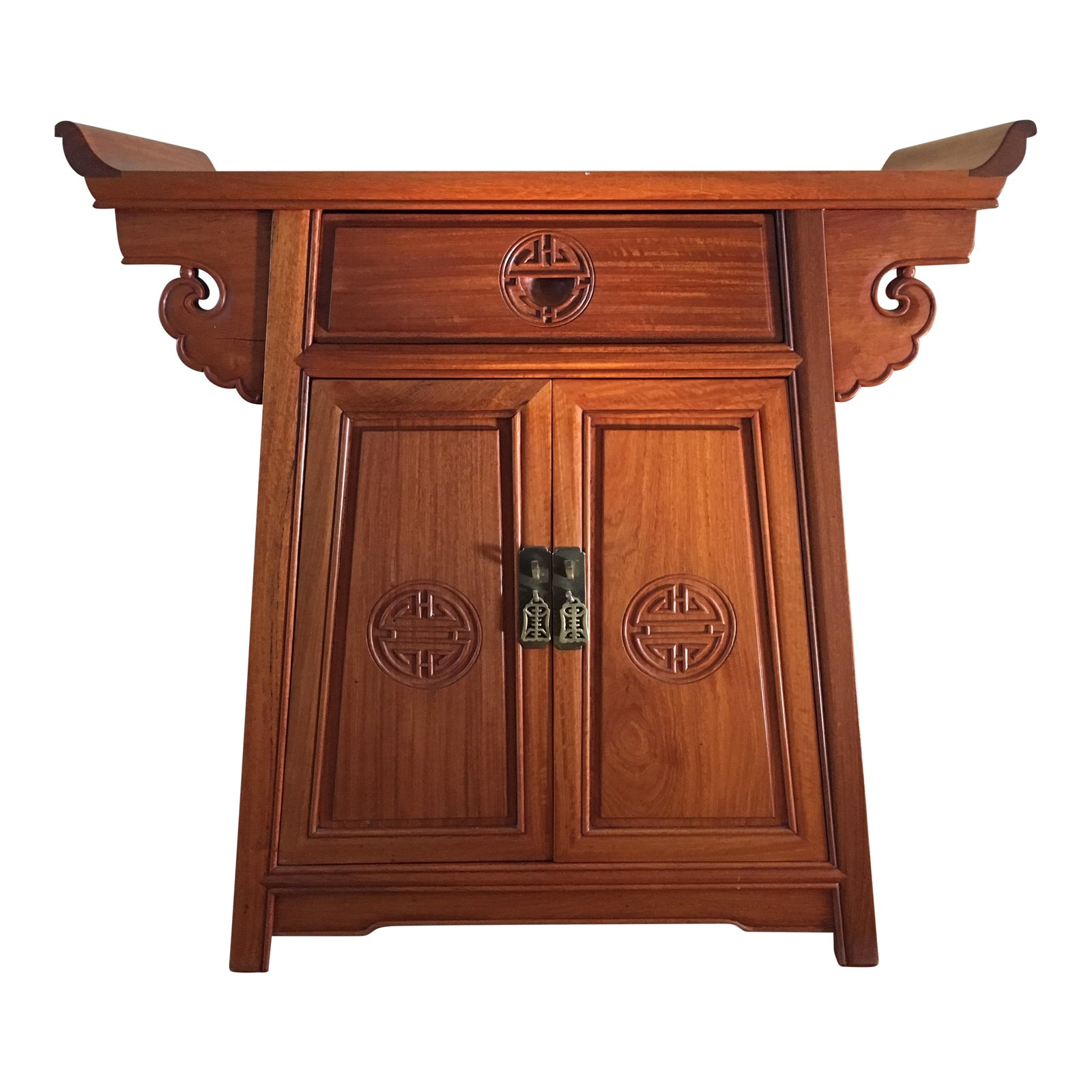 Chinese Rosewood Altar Cabinet