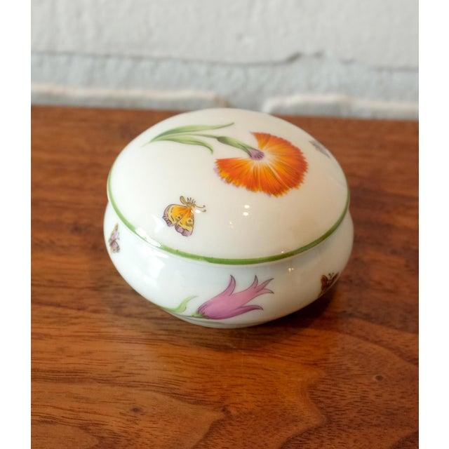 Boho Chic Vintage Tiffany & Co. French Limoges Porcelain Jar W/Top For Sale - Image 3 of 7