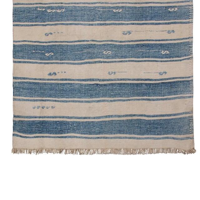 "Vintage Malatya Geometric Blue Gray Wool Kilim Runner-2'5'x15'5"" For Sale In New York - Image 6 of 8"