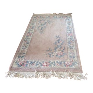 1930s Chinese Wool Handmade Oriental Rug-4'×6″ For Sale
