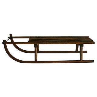 Antique 1900s Davos-Style Sled For Sale