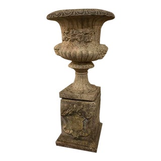 English Composite Urn on Stand For Sale