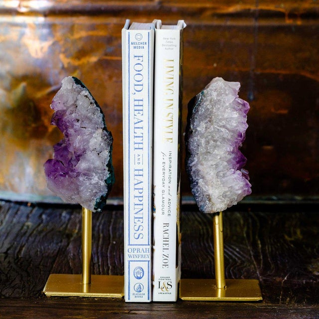 Small Amethyst on Gold Iron Stand For Sale - Image 5 of 6