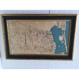 Framed Map of Long Island, NY Preview